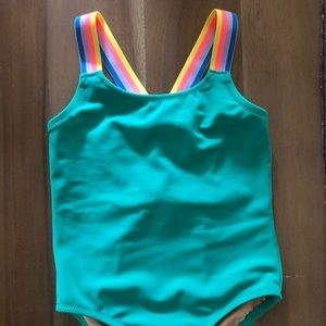 NWOT never worn green 2T Crewcuts bathing suit